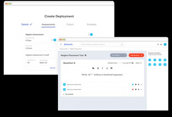 Deployment and Assessment Builder screenshots